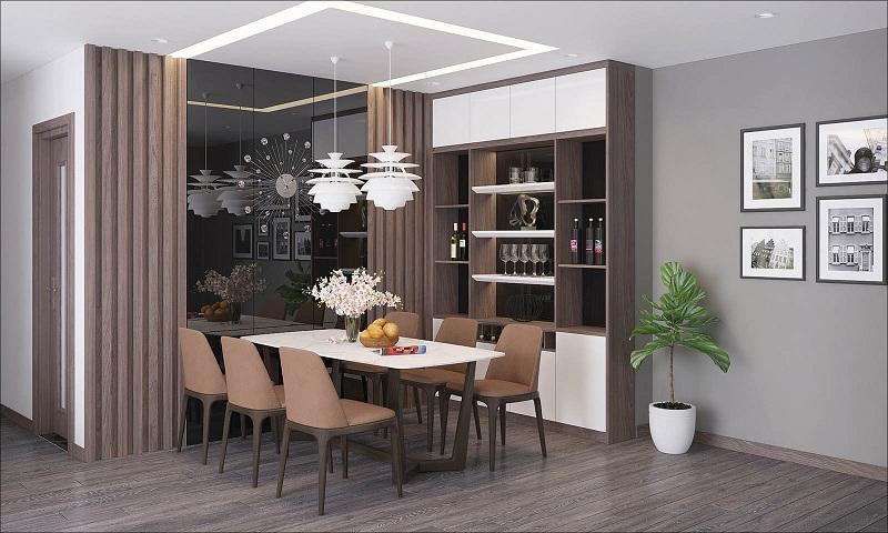 Phòng ăn dự án Phương Đông Green Park số 01 Trần Thủ Độ
