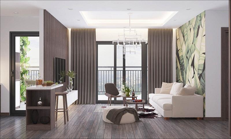 Phòng khách dự án Phương Đông Green Park số 01 Trần Thủ Độ