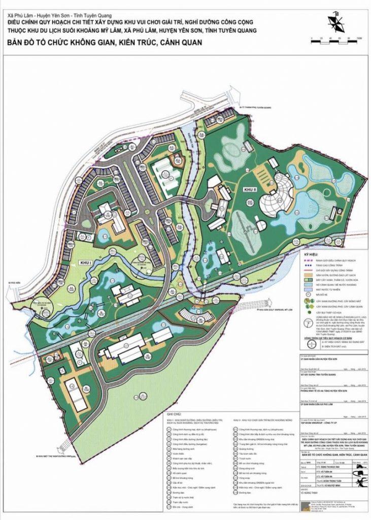 Quy hoạch phân khu Shophouse giai đoạn 1 dự án Vinpearl Tuyên Quang