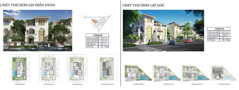 Thiết kế biệt thự đơn lập dự án Eco City Premia Buôn Ma Thuột