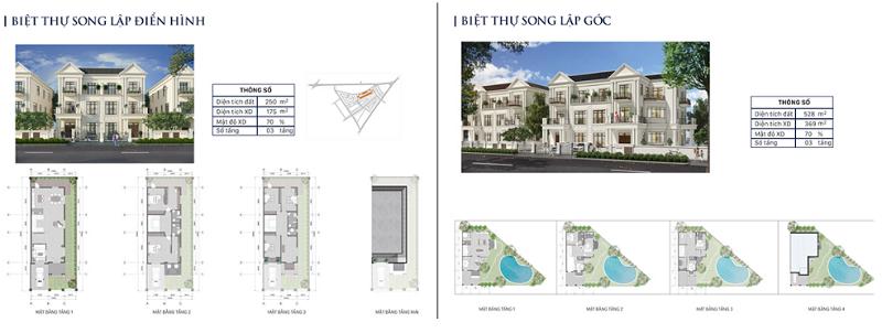 Thiết kế biệt thự song lập dự án Eco City Premia Buôn Ma Thuột