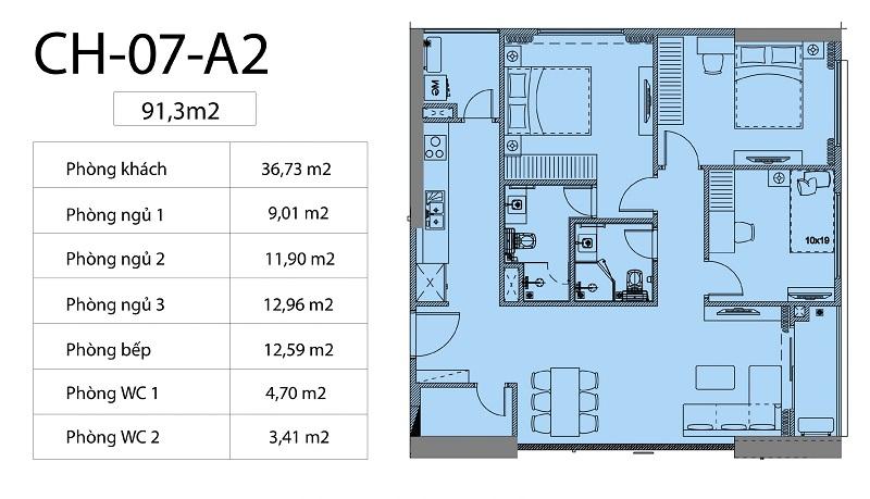 Thiết kế căn hộ 01-07 chung cư Harmony Square 199 Nguyễn Tuân
