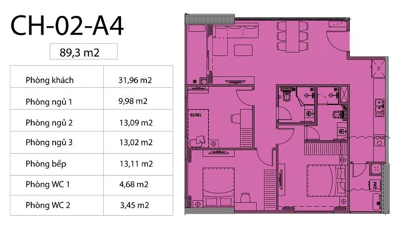 Thiết kế căn hộ 02 chung cư Harmony Square 199 Nguyễn Tuân