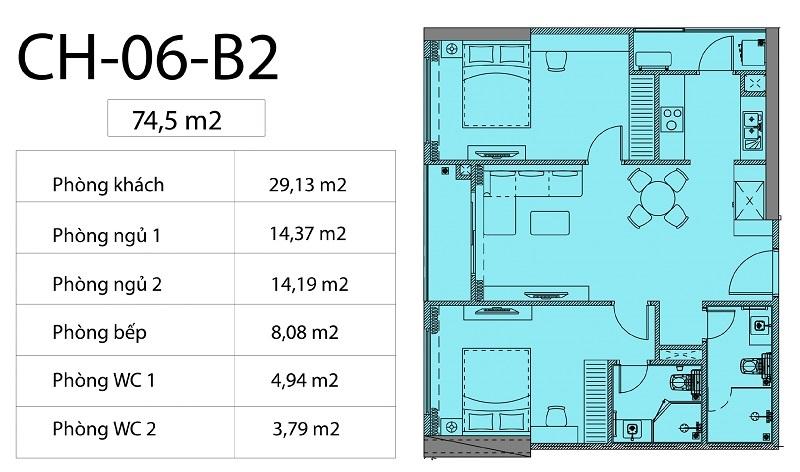 Thiết kế căn hộ 06 chung cư Harmony Square 199 Nguyễn Tuân