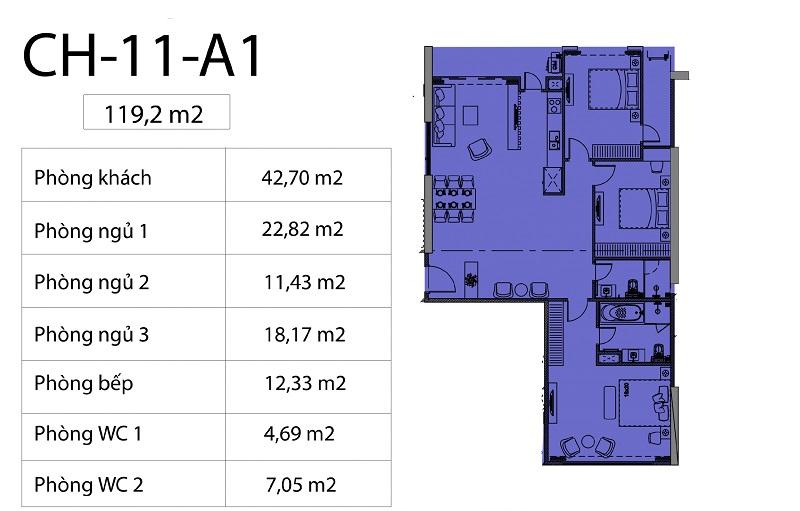 Thiết kế căn hộ 11 chung cư Harmony Square 199 Nguyễn Tuân