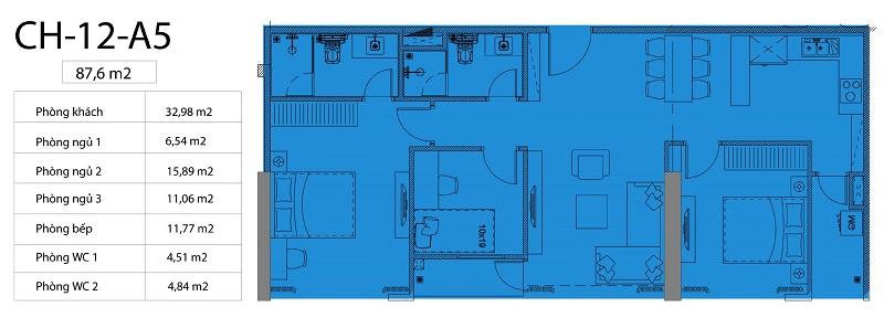 Thiết kế căn hộ 12 chung cư Harmony Square 199 Nguyễn Tuân