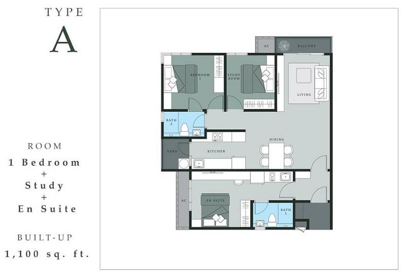 Thiết kế căn hộ Dual Key chung cư The Dandelion Residence Gamuda Yên Sở