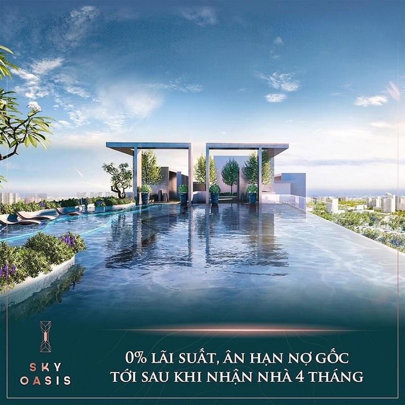 Tiện ích Bể Bơi tầng 40 Sky Oasis KĐT Ecopark