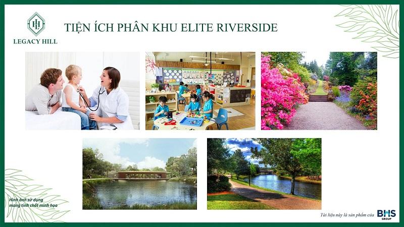 Tiện ích phân khu Elite Riverside dự án Legacy Hill Lương Sơn - Hòa Bình