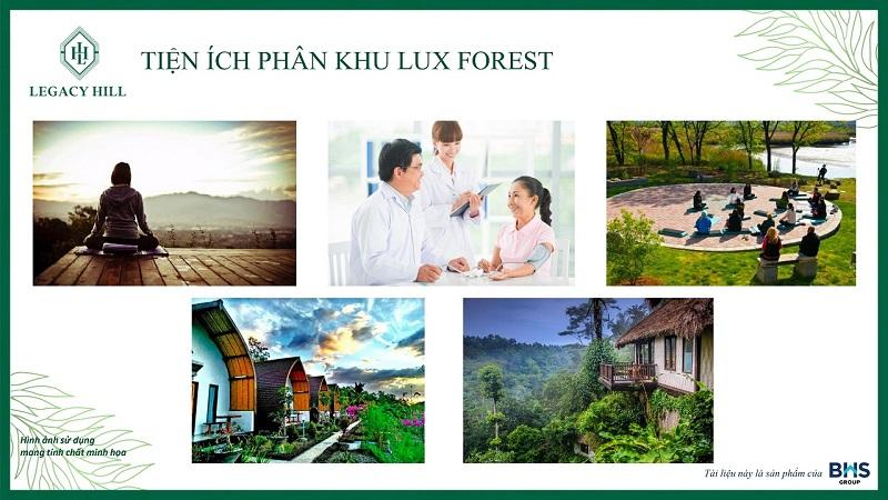 Tiện ích phân khu Lux Forest dự án Legacy Hill Lương Sơn - Hòa Bình