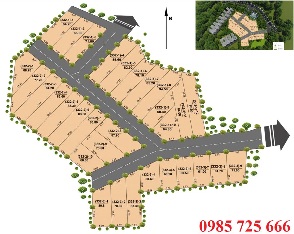 Mặt bằng chi tiết 31 lô đất nền Sen Trì - Bình Yên - Thạch Thất- Hòa Lạc