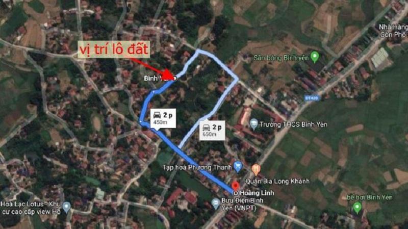 Vị trí 31 lô đất nền Sen Trì - Bình Yên - Thạch Thất- Hòa Lạc