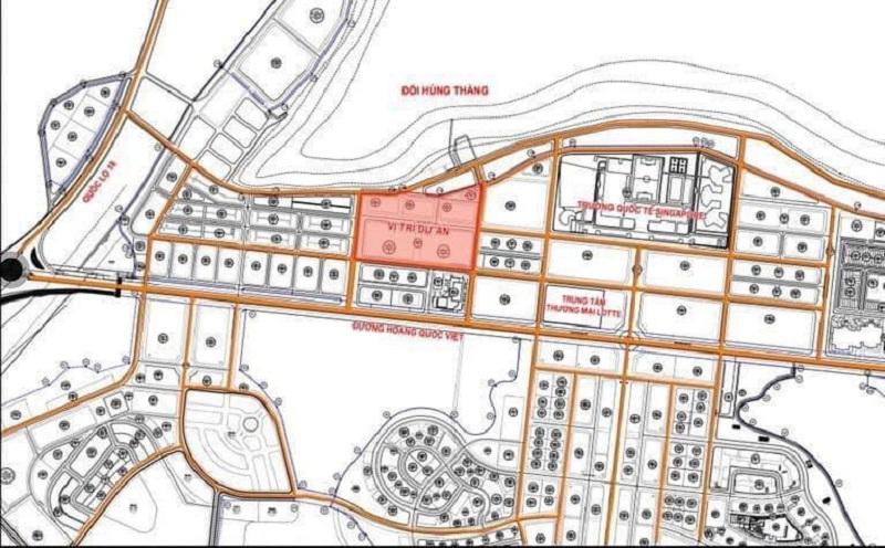 Vị trí dự án đất nền Khu Đa Giác Tây Hùng Thắng - Bãi Cháy - Hạ Long của BIM Group