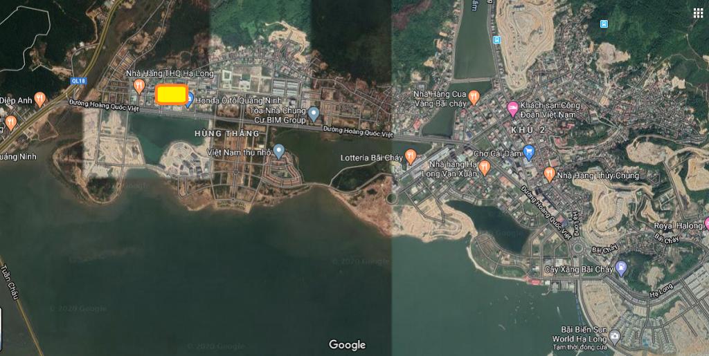 Vị trí dự án đất nền khách sạn, nhà hàng, liền kề Tây Hùng Thắng, Bãi Cháy, Hạ Long