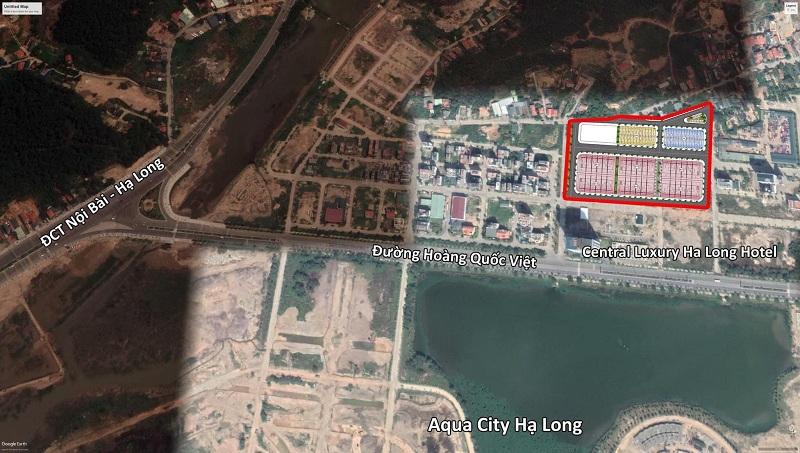 Vị trí dự án đất nền Liền Kề, Nhà hàng, Khách sạn Tây Hùng Thắng - Bãi Cháy - Hạ Long
