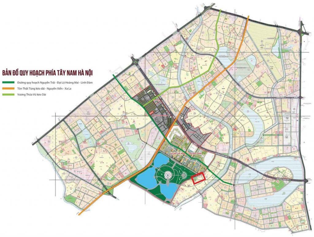 Vị trí dự án Liền Kề Hải Ngân - Thanh Liệt - Thanh Trì
