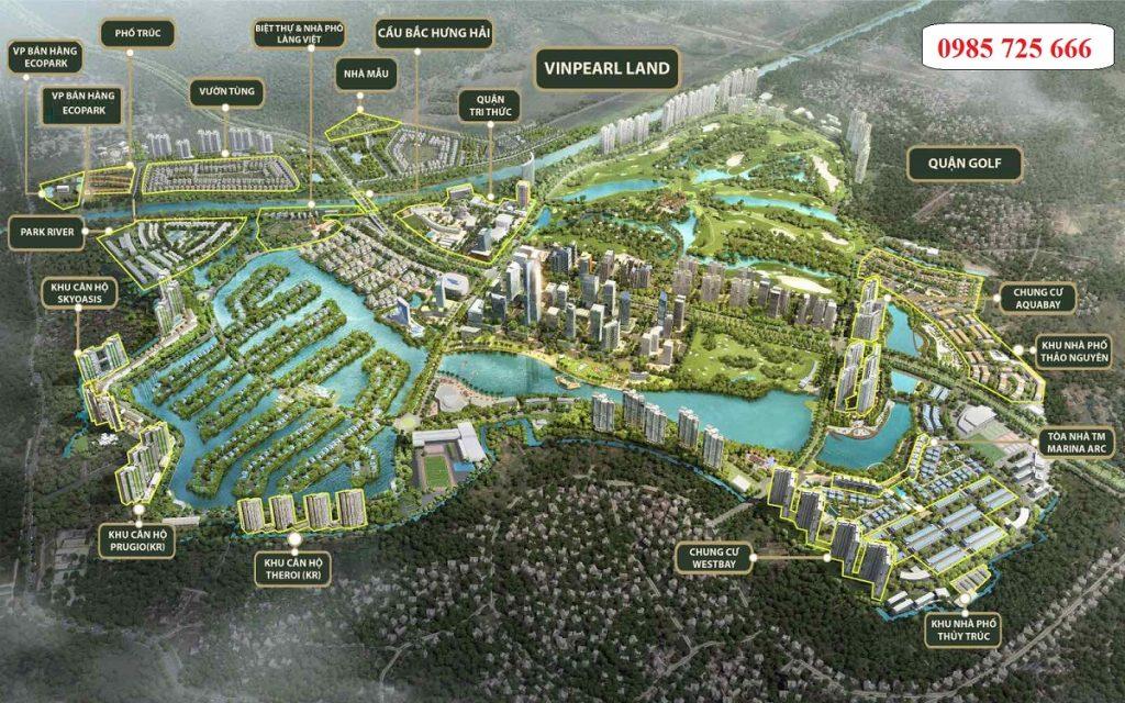 Vị trí Shophouse dự án Sky Oasis Ecopark