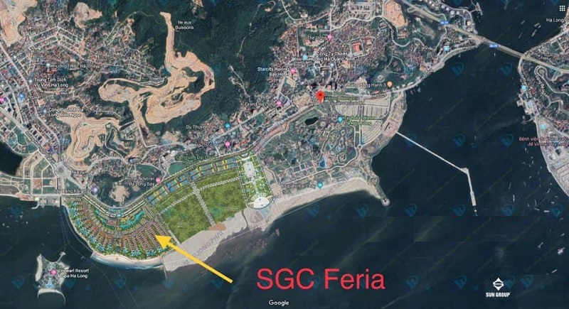 Vị trí biệt thự nghỉ dưỡng Sun Grand City Feria Hạ Long - Quảng Ninh