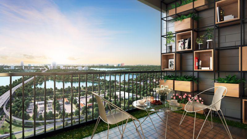 View hồ Yên Sở từ dự án Phương Đông Green Park số 01 Trần Thủ Độ