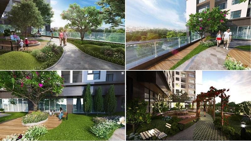 Vườn trên cao dự án Phương Đông Green Park số 01 Trần Thủ Độ