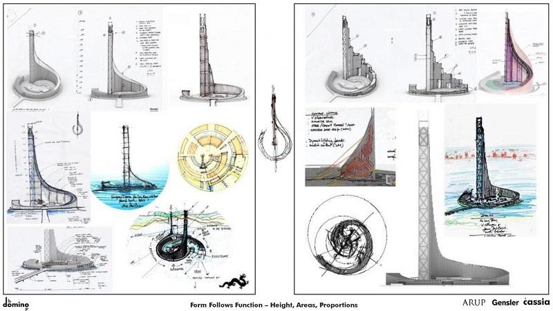 Ý tưởng thiết kế dự án Domino Hạ Long Bay 99 tầng của Sungroup