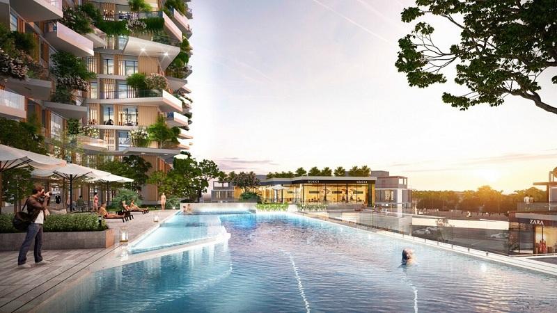 Bể bơi khoáng mặn 4 mùa chung cư Sol Forest Ecopark