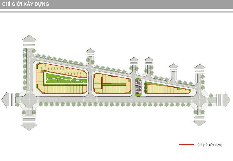 Chỉ giới xây dựng dự án Shophouse Trâu Quỳ - Gia Lâm Central Metropolitan