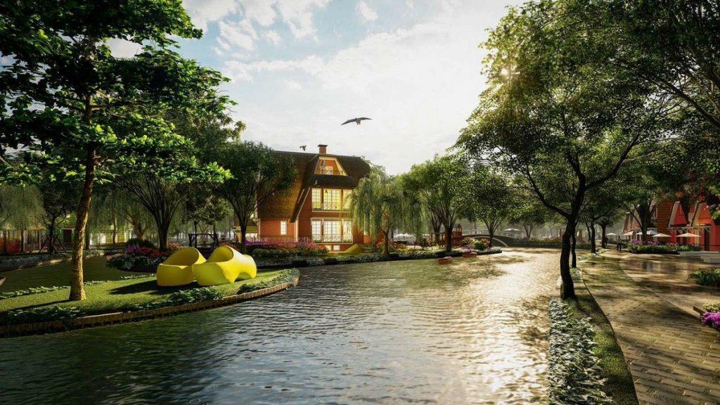 Không gian tiểu khu biệt thự Làng Hà Lan Ecopark