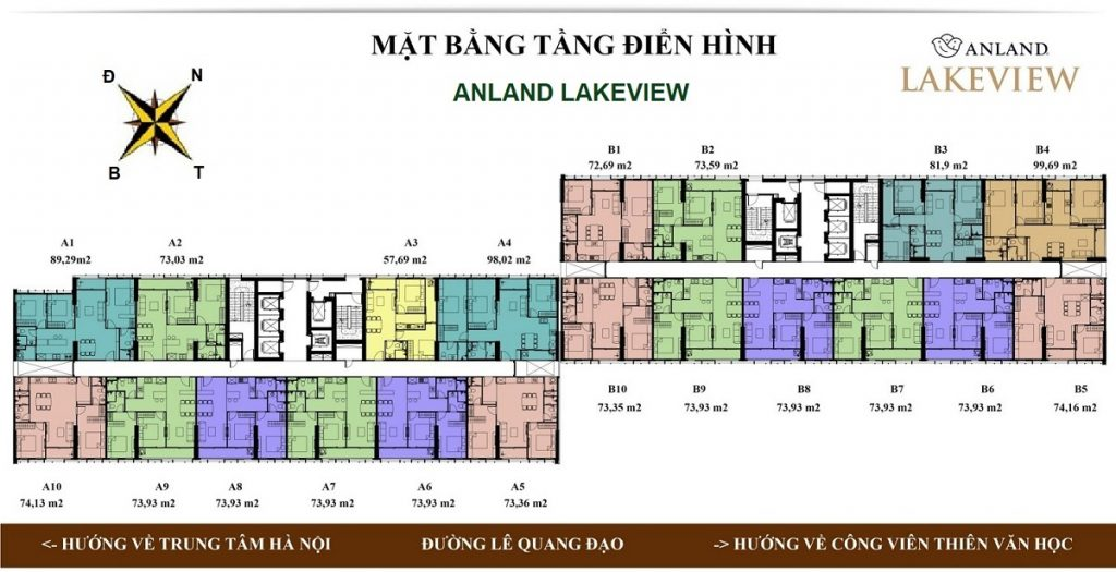 Mặt bằng dự án chung cư Anland LakeView Dương Nội