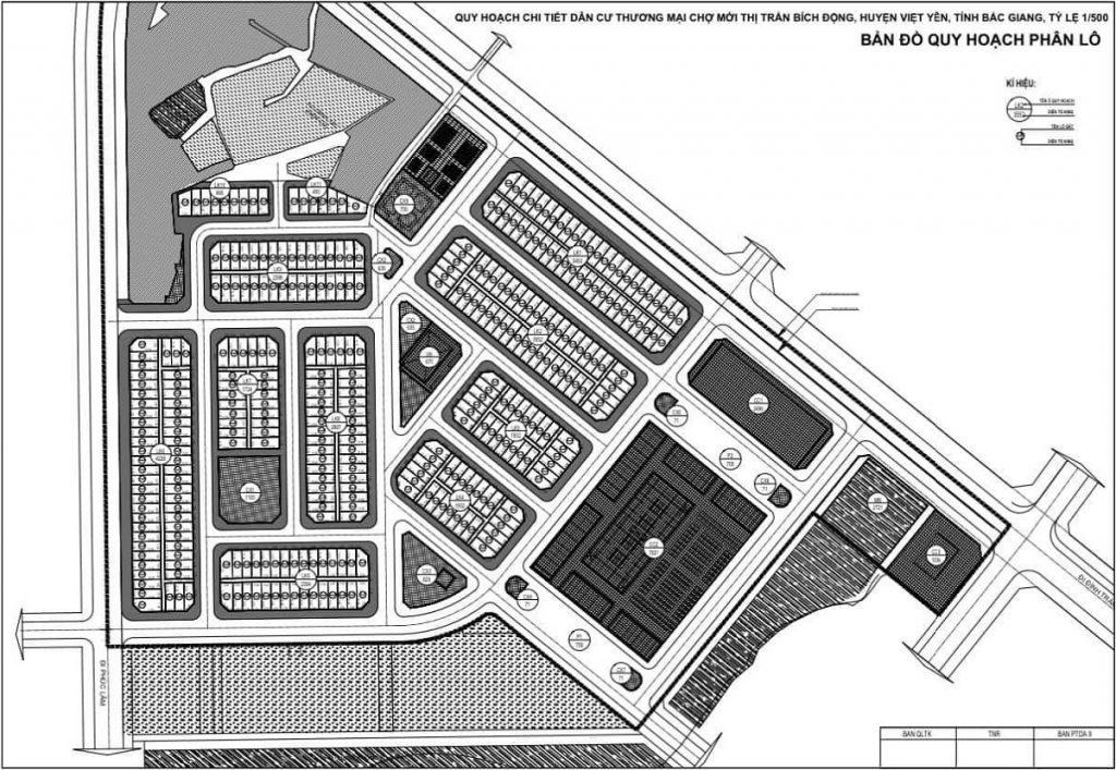 Mặt bằng dự án Khu đô thị TNR Star Bích Động - Việt Yên - Bắc Giang