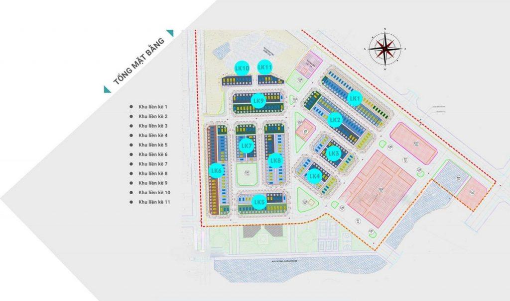 Mặt bằn quy hoạch dự án Khu đô thị TNR Star Bích Động - Việt Yên - Bắc Giang