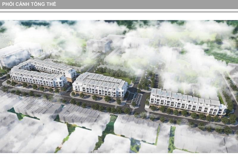 Phối cảnh 2 dự án Shophouse Trâu Quỳ - Gia Lâm Central Metropolitan