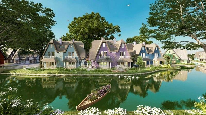 Phối cảnh 3 tiểu khu biệt thự Làng Hà Lan Ecopark