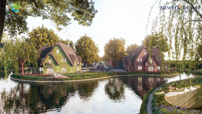 Phối cảnh 4 tiểu khu biệt thự Làng Hà Lan Ecopark