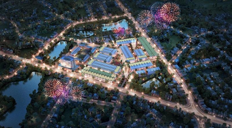 Phối cảnh ban đêm dự án TNR Stars Bích Động - Việt Yên - Bắc Giang 2020