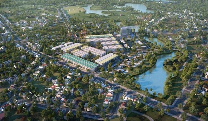 Phối cảnh ban ngày dự án TNR Stars Bích Động - Việt Yên - Bắc Giang 2020