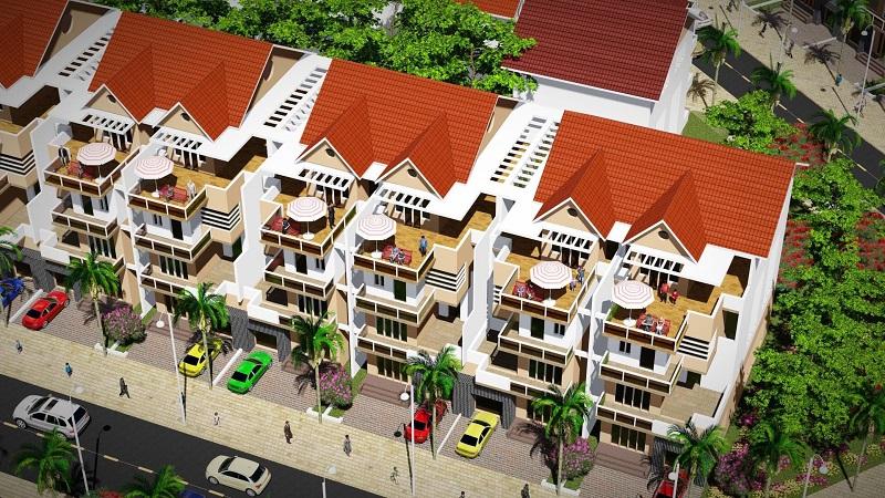 Phối cảnh biệt thự khu dân cư Bến Sơn - Yên Lập Riverside - Phú Thọ