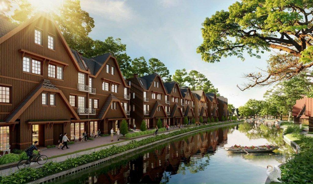 Phối cảnh 1 biệt thự Làng Hà Lan Ecopark