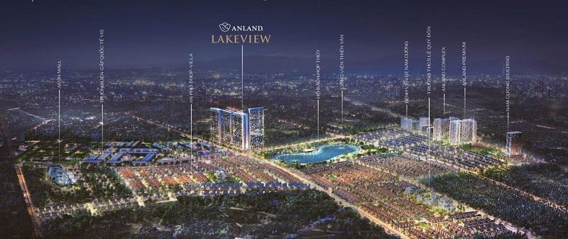 Phối cảnh Anland LakeView trong khu đô thị Dương Nội