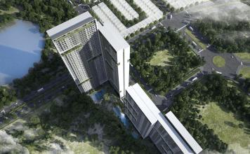 Phối cảnh dự án chung cư Anland Lakeview từ trên cao