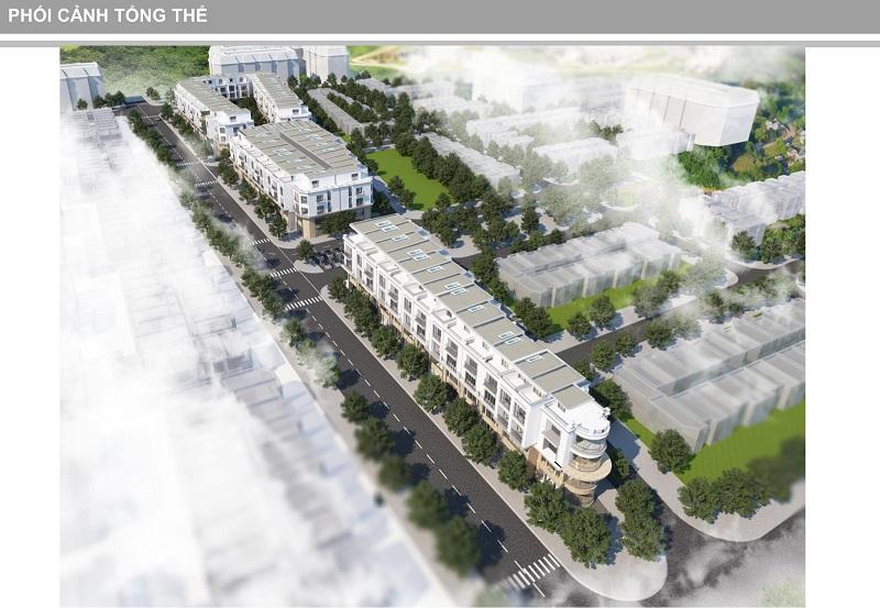 Phối cảnh dự án Shophouse Trâu Quỳ - Gia Lâm Central Metropolitan
