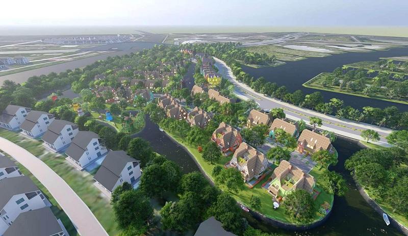 Flycam 1 tiểu khu Làng Hà Lan Ecopark