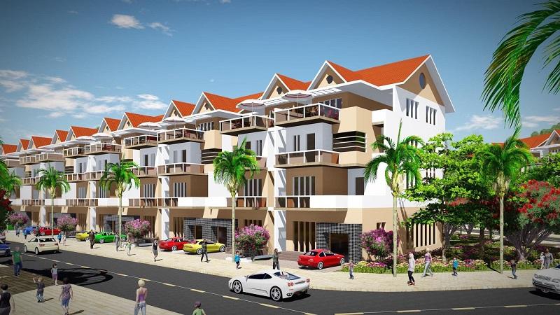 Phối cảnh liền kề khu dân cư Bến Sơn - Yên Lập Riverside - Phú Thọ