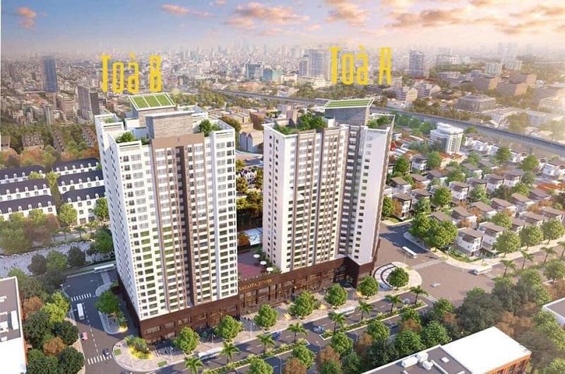 Phối cảnh tổng thể chung cư Lacasta Tower Văn Phú