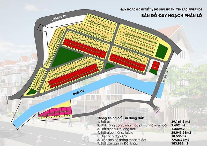 Quy hoạch chi tiết khu dân cư Bến Sơn - Yên Lập Riverside - Phú Thọ