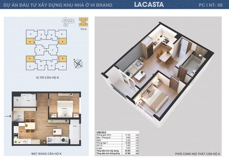 Thiết kế căn hộ K tòa B Lacasta Tower Văn Phú - Hà Đông