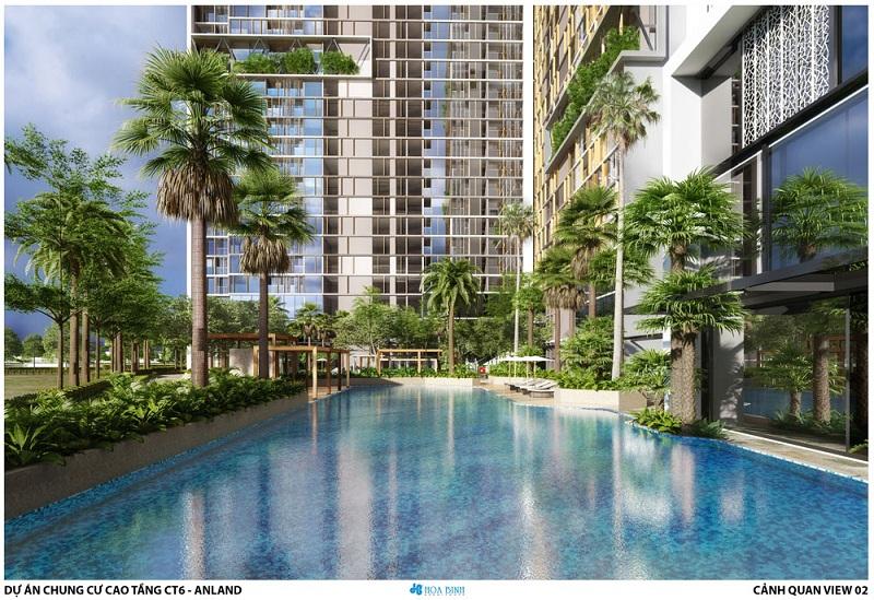 Tiện ích bể bơi dự án chung cư Anland LakeView Dương Nội