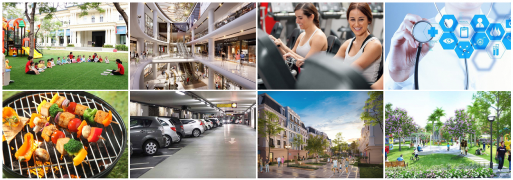 Tiện ích dự án Shophouse Trâu Quỳ - Gia Lâm Central Metropolitan