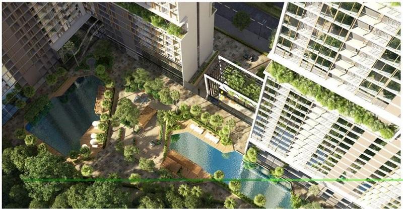 Tiện ích không gian xanh dự án chung cư Anland LakeView Dương Nội