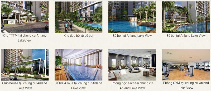Tiện ích nội khu dự án chung cư Anland LakeView Dương Nội
